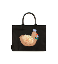 SALE  aniMAL APPLIQUE BAG_Kko Kko Black