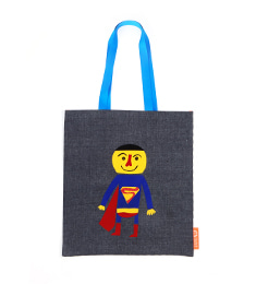 UPCYCLING BAG IN BAG ECOBAG_SUPERMAN