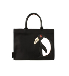 SALE Animal Applique Bag_Penguin Black